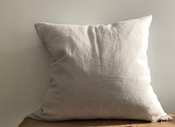 50cm x 50cm Silver Linen Cushion Cover