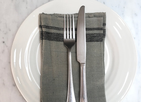 Grey Linen Napkin (set of four)