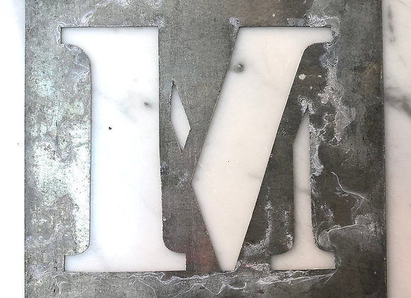 M Metal Stencil