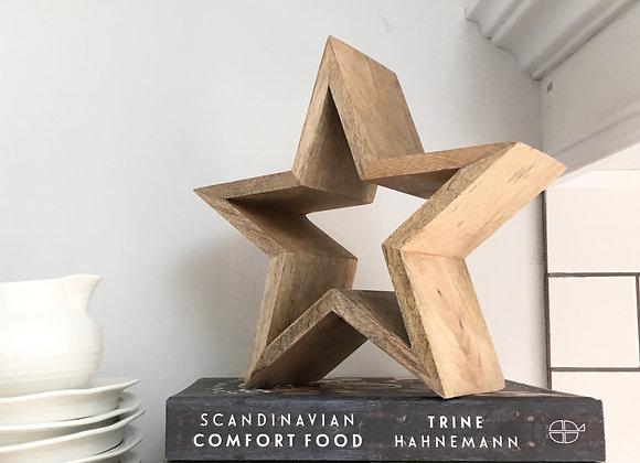 Mango Wood Star