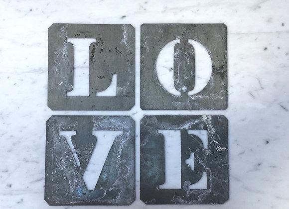 L O V E   metal stencils