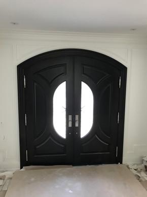 front double doors