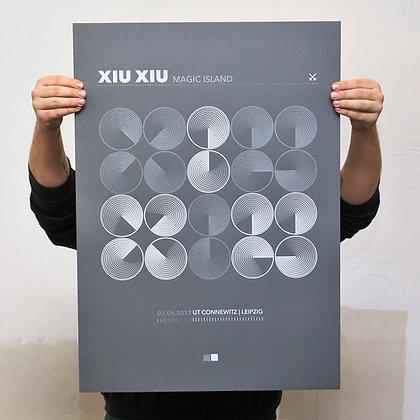 XIU XIU GIG POSTER by DRUCKWELLE