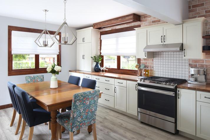 Modern, Garden Themed Kitchen