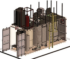 A rendering of a wastewater treatment process called MABR