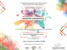 2018 - Mención Honorífica