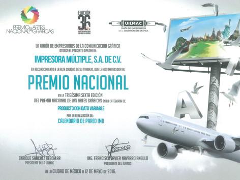 2016 - Premio Nacional