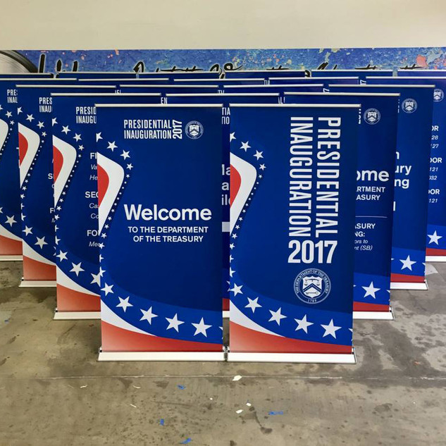 Inauguration Banner Stands