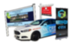 billboards, real estate sign, banner and car wrap