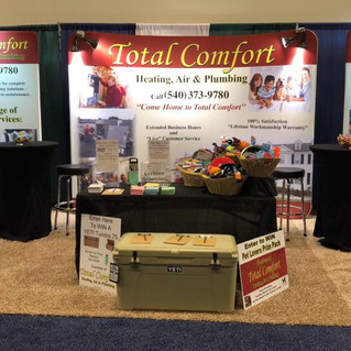 Total Comfort Trade Show Booth