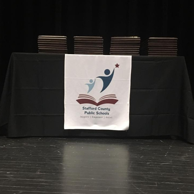 Stafford County Public Schools Table Runner