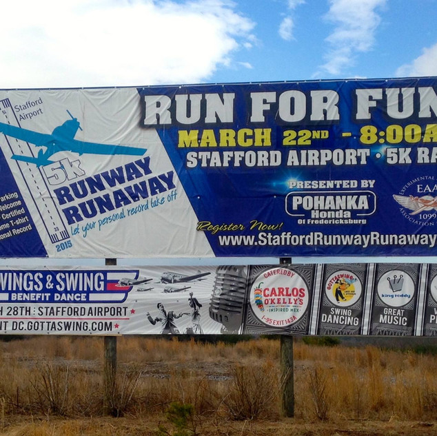 Runway Runaway Billboard Banner