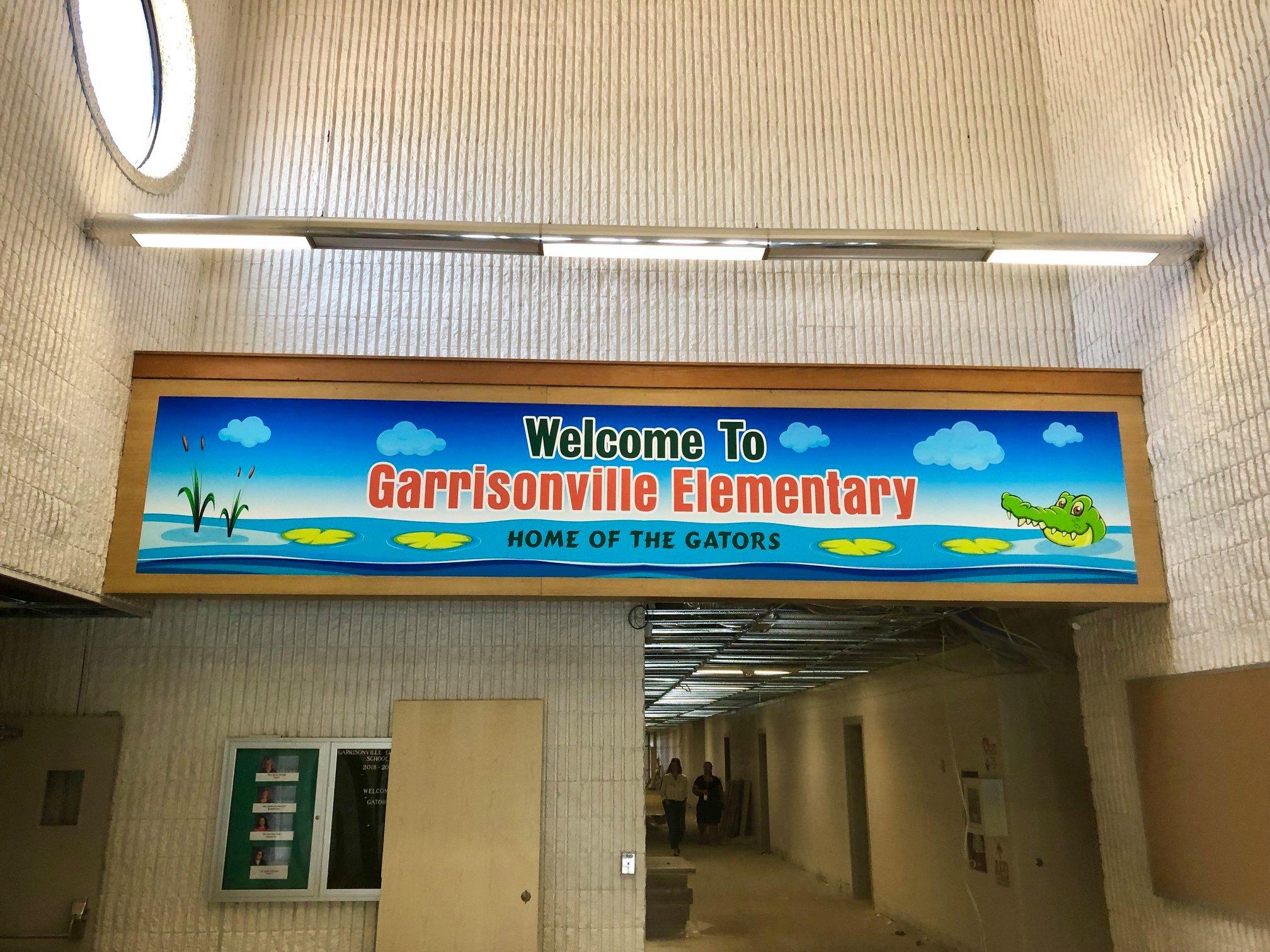 Garrisonville Elementary School Lobby Wa