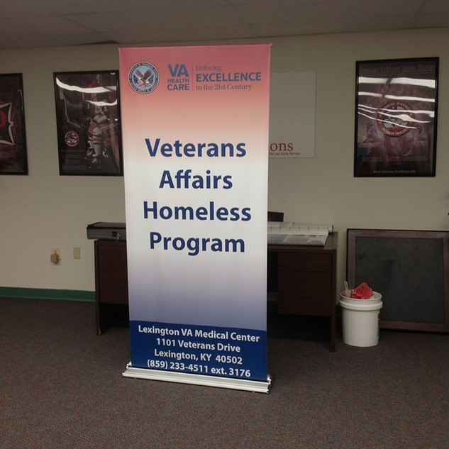 Veterans Affairs Banner Stands