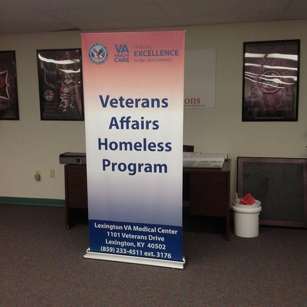 Veterans Affairs Banner Stands