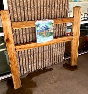 Cedar Split Rail Fence Materials at RAKS Building Supply in Los Lunas, New Mexico.