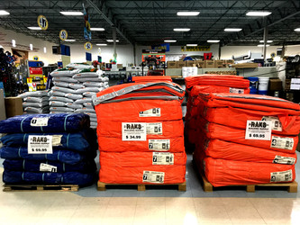 Concrete blankets at RAKS Building Supply.