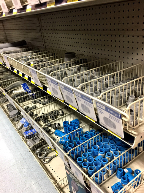Electrical supplies at RAKS Building Supply.