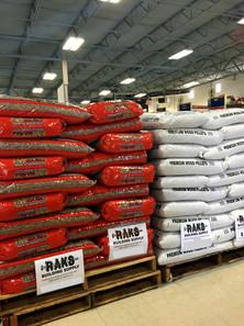 40 lb wood burning pellet fuel at RAKS Building Supply.