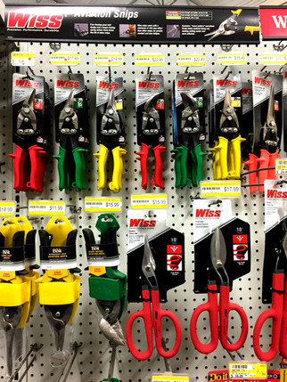 Wiss tools at RAKS Building Supply in New Mexico.