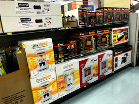 Portable and patio heaters at RAKS Building Supply.