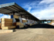 Lumber yard with dimensial framing lumber and sheetrock in stock at RAKS Building Supply in Los Lunas, Albuquerque, Edgewood and Socorro, New Mexico