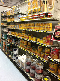 Wood stain at RAKS Building Supply in New Mexico.