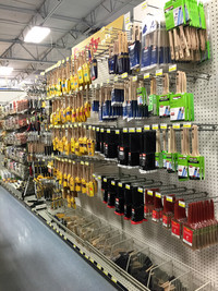 Paint brushes at RAKS Building Supply in Los Lunas, New Mexico.