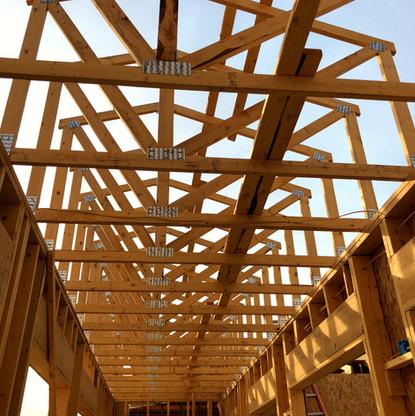Wood Roof Truss for Custom Built Home