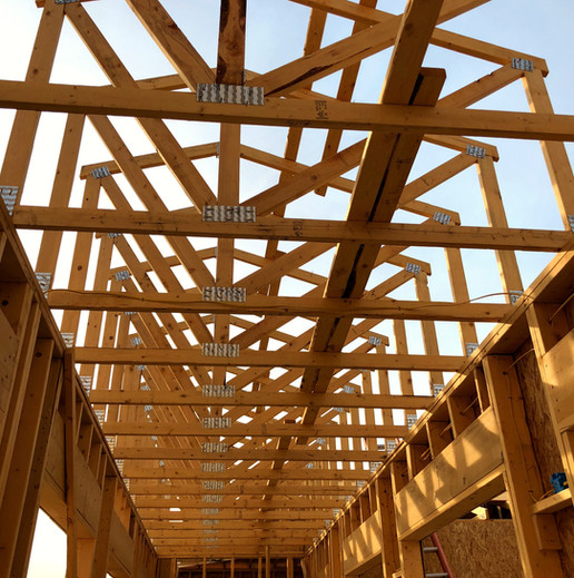 Wood Roof Truss for Custom Built Home
