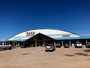 RAKS in Socorro, New Mexico is a lumber yard and hardware store