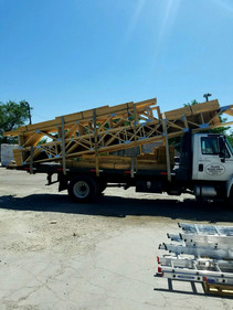 Wood truss delivery in Albuquerque, New Mexico