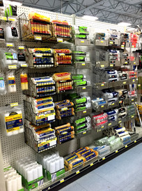 Paint rollers at RAKS Building Supply in Los Lunas, New Mexico.