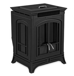 Bella Black Cast Iron pellet stove.