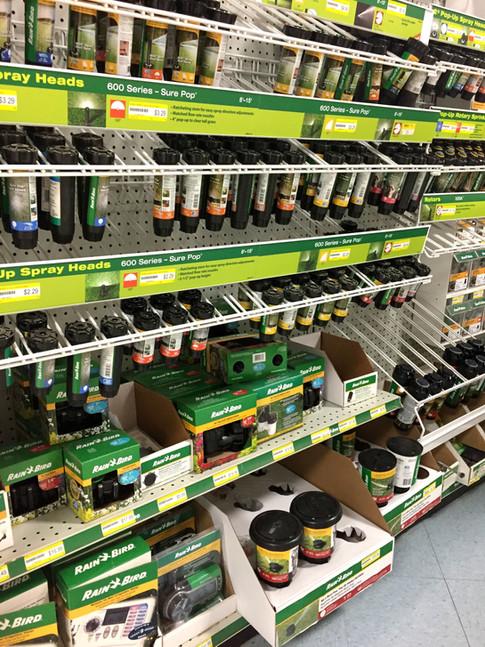 Sprinklers and supplies at RAKS.