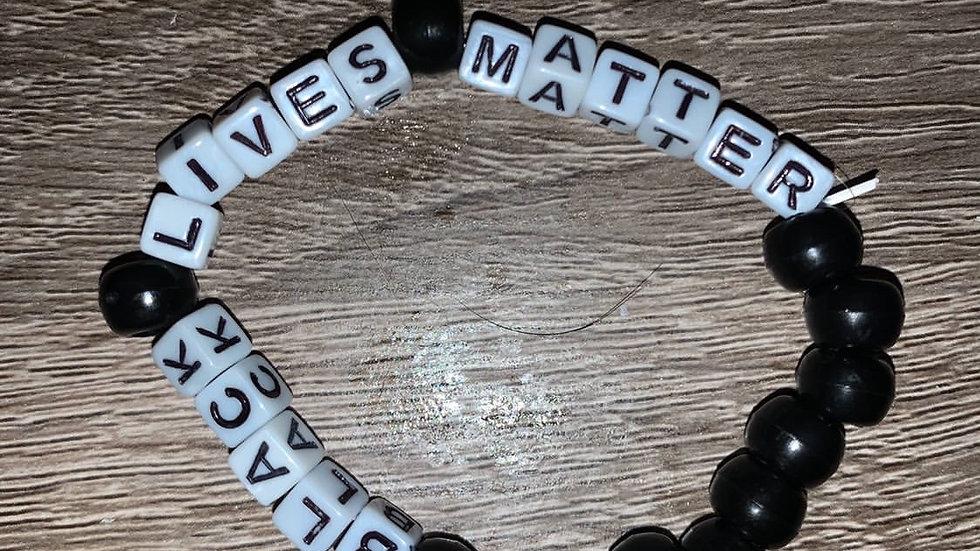 BLM bracelet by artist Cameron Nesbit