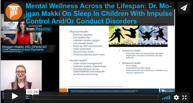 Dr. Makki on Sleep in Children with Impulse Control and/or Conduct Disorders