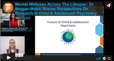 Dr. Makki shares perspectives on research in child and adolescent psychology