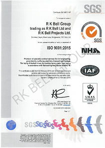 RK Bell Group ISO9001-2015 & NHSS16 02.0
