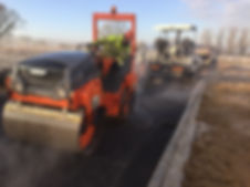 Tarmac surface being rolled