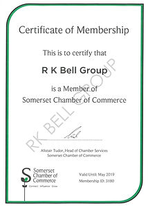 Somerset Chamber of commerce certificate