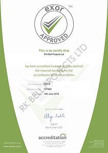 Exor certificate