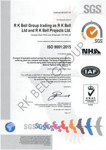 Quality Management System certificate -  ISO9001:2015 & NHSS16