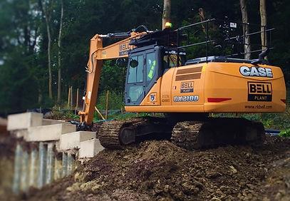 Hadspen Case 210D Full size Excavator Construction Equipment