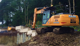 Case 210D Full size Excavator Construction Equipment