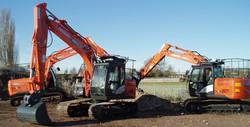 RK Bell's Hitachi Excavators
