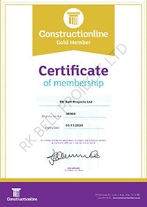 RK Bell Projects - Constructionline Gold