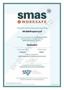 RK Bell Projects Ltd - SMAS cert exp 13.