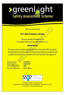 Greenlight Safety certificate