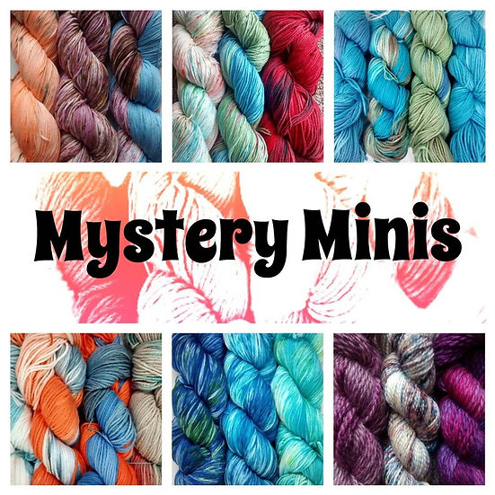 Mystery Mini Skein Lucky Dip in Wool, Wool Blends and Vegan Cotton